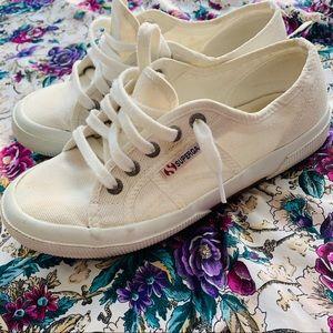 Superga White Sneakers Sz 7.5
